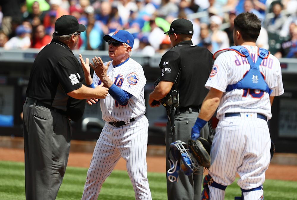 Shocker: Terry Collins was angry about the decision. (Getty Images)