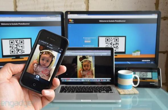 Scalado Photobeamer for iOS brings rapid photo sharing to any web-connected display (video)