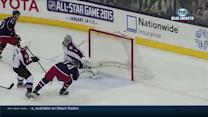 Wacky bounce leads to Comeau one-timer