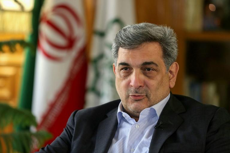 Mayor of Tehran Pirouz Hanachi during an interview with AFP in the Iranian capital on July 7 (AFP Photo/ATTA KENARE)