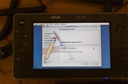 Mac OS X hacked to run on UMPC, tablet fans rejoice