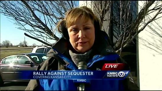 Federal workers hold sequester rally downtown