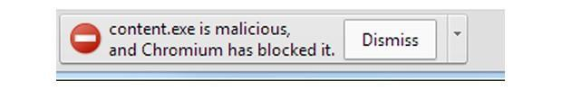 Chrome Canary now blocks recognized malware downloads