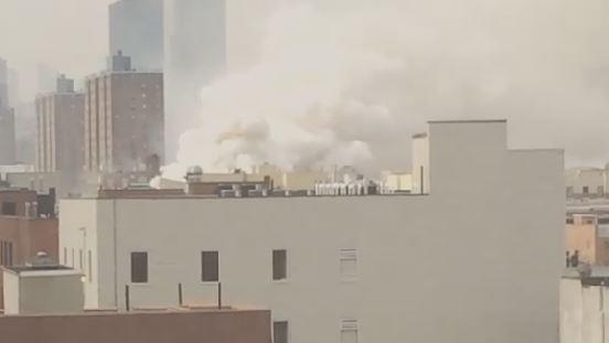 Smoke Billows Following New York Explosion