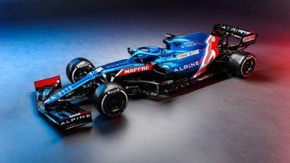 Alpine F1: monoposto blu, rossa e bianca per stagione 2021