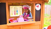 Little Girl with Heart Transplant Gets Playhouse of Her Dreams From Girl Scouts