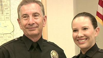 One time only: Calif. father, daughter on patrol
