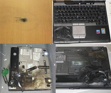 Dell laptop number 3 explodes