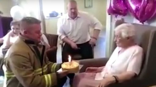 105-year-old asks for sexy firefighters for her birthday, please