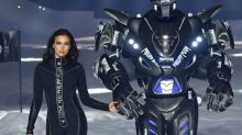 A spaceship, a robot, and Irina Shayk in a catsuit: All the details from Philipp Plein's outer-space vision for NYFW