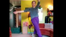 Adorable funny cat in Washington surprises her quarantined human doing ballet