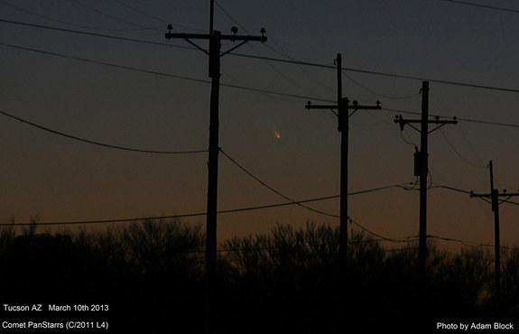 Astrophotographer Adam Block of the Mt. Lemmon SkyCenter took this photo of Comet Pan-STARRS (C/2011 L4) over Tucson, AZ, on March 10, 2013.