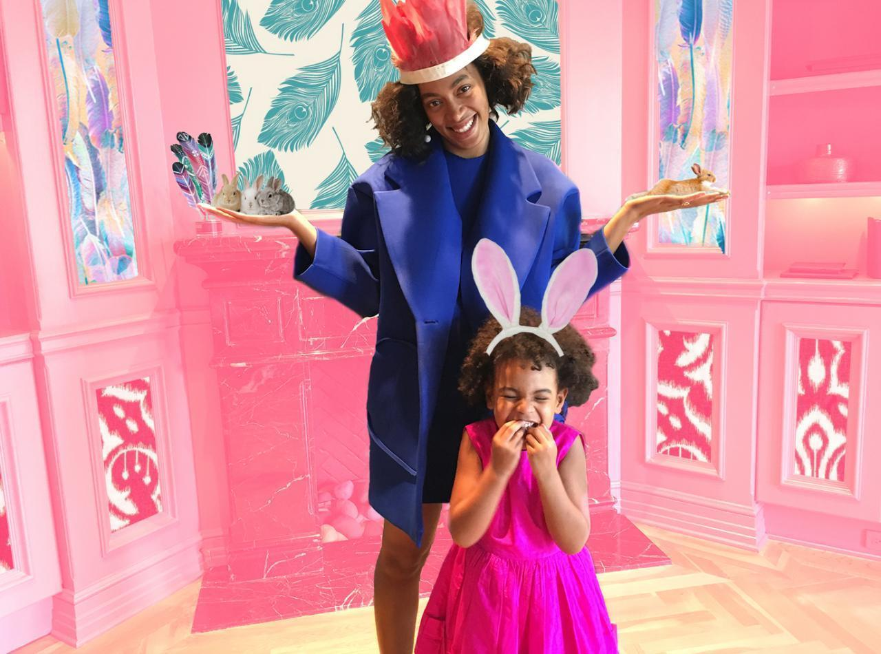Beyonce, Blue Ivy And Solange Knowles Have An Adorable Early Easter ...