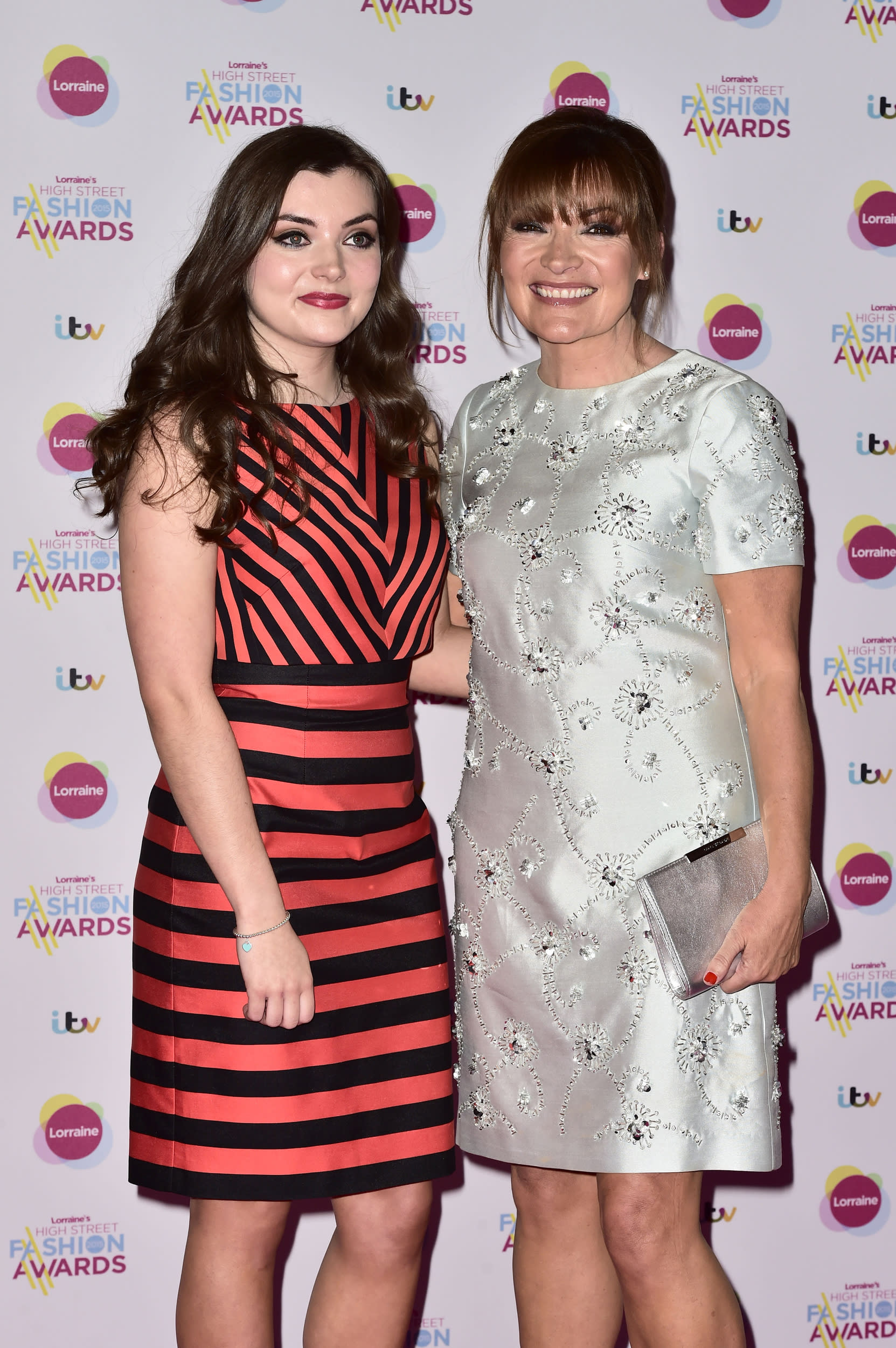 Lorraine Kelly and daughter Rosie attending Lorraine's High Street Fashion Awards, at the Connaught Rooms in London