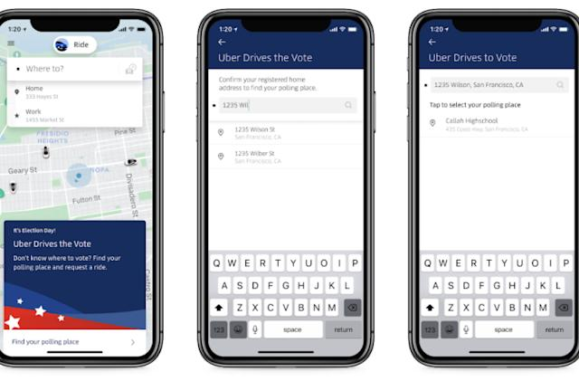 Uber offers $10 off Election Day rides to polling stations