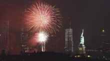 Independence Day fireworks light up the nation's skies