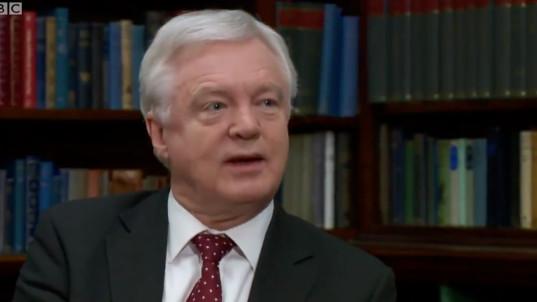 David Davis Dismisses Claim Boris Johnson Changed UK's Brexit Policy
