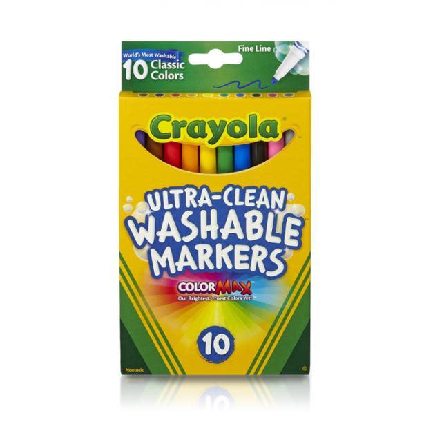 Crayola Ultra Clean Classic Fine Line Marker, 10 C