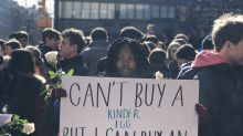 'I cant buy a Kinder egg, but I can buy an AR-15': NYC students protest gun laws on walkout day