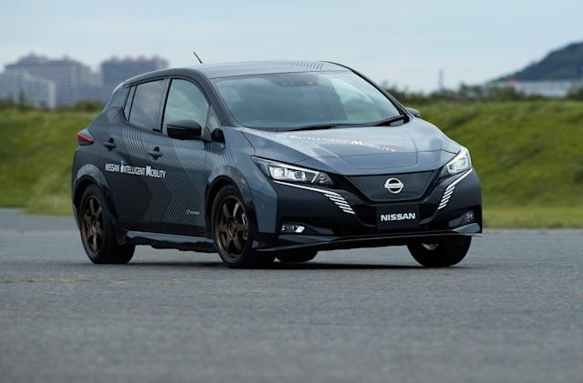 Nissan's dual-motor Leaf test car hints at future EVs