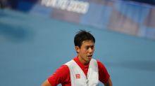 Olympics-Tennis-Nishikori upsets fifth seed Rublev on home soil