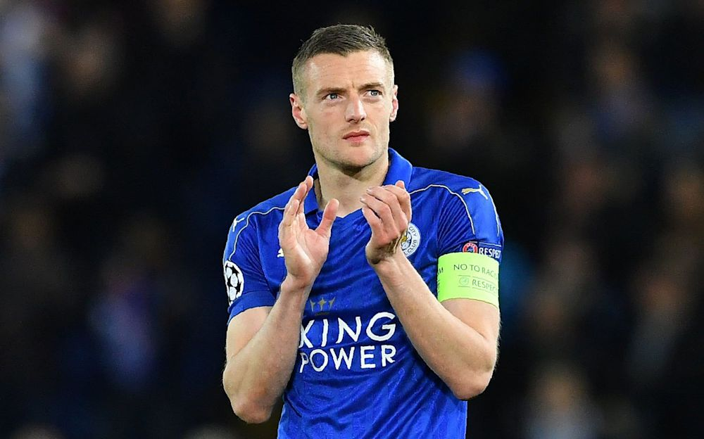Jamie Vardy was linked with a summer move to Arsenal - AFP