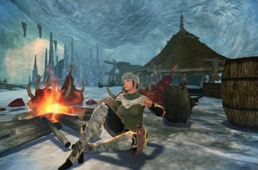 Vindictus gives characters a moment around the campfire