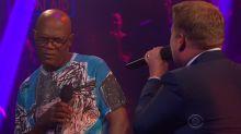 James Corden slams Samuel L. Jackson's credits in rap battle
