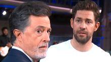 John Krasinski Gets Heated With Stephen Colbert Over 'Not An Action Guy' Barbs