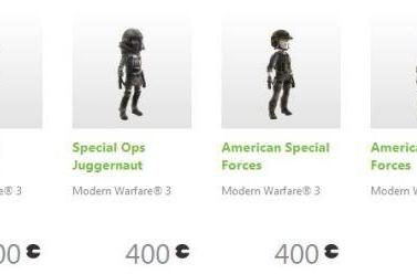 MW3 avatar sales on Xbox Marketplace benefit Call of Duty Endowment