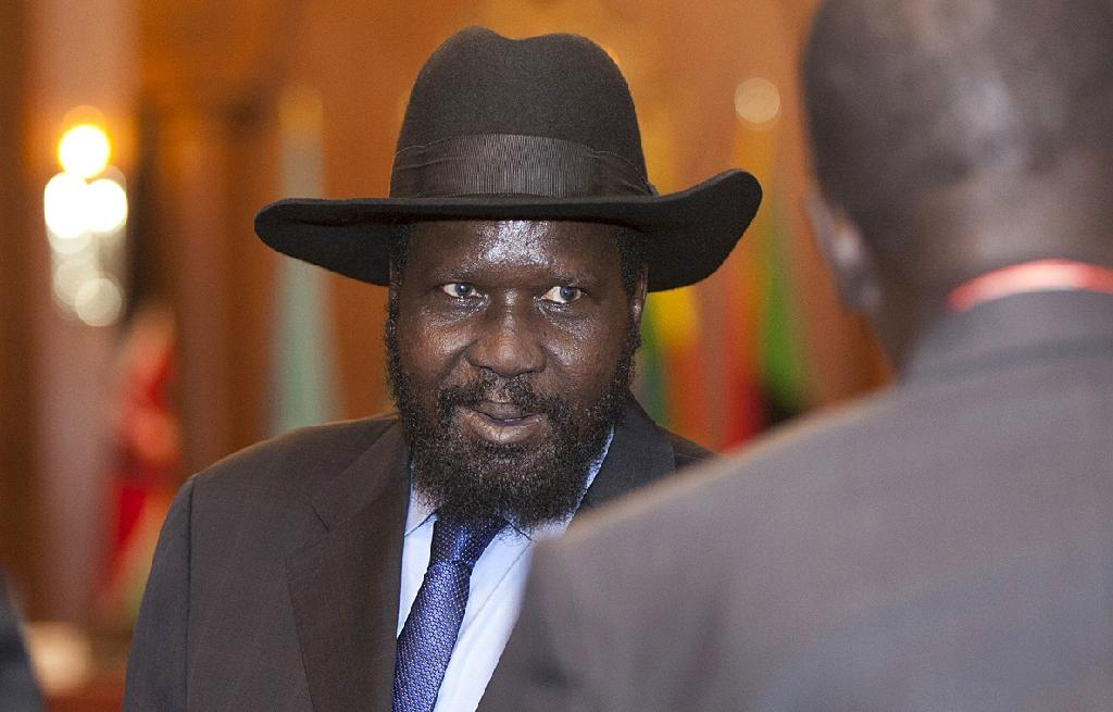 President Salva Kiir (pictured) on Wednesday signed a peace accord, already signed by the rebel chief Riek Machar (AFP Photo/Zacharias Abubeker)