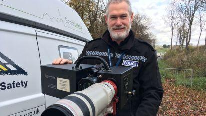 Police unveil Britain's biggest speed camera