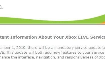 Xbox Live mandatory update coming November 1st, all hands on board