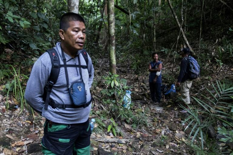 Evironmental defender Ruben Arzaga was shot dead in 2017 while on a mission to confiscate chainsaws and other equipment used to destroy Palawan's rainforests (AFP Photo/KARL MALAKUNAS)