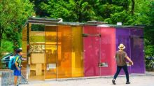 Loo with a view: transparent public toilets installed in Tokyo parks