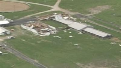 Aerial Video: Storm Damages Hardin County Fairgrounds