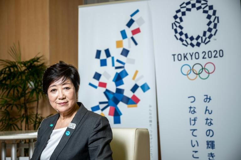 Tokyo governor Yuriko Koike has pledged a '120-percent effort' to ensure the delayed 2020 Olympics can go ahead (AFP Photo/Philip FONG)