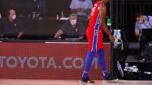 Joel Embiid leaves game against Portland early with ankle injury, will not return