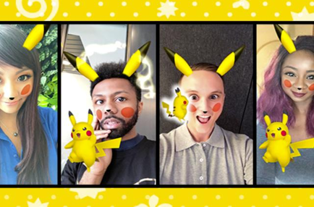 Snag a mediocre selfie with Pikachu using Snapchat's latest Lens