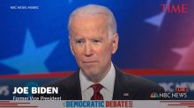 Protesters Interrupt Joe Biden's Closing Remarks During Democratic Debate In Nevada