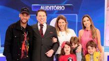 Patrícia Abravanel tieta Neymar e leva família toda para conhecer jogador