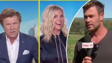 Chris Hemsworth shocks by crashing Weekend Today live cross