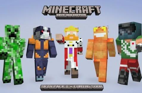 Minecraft XBLA character skin pack features a few favorites