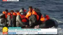 'Good Morning Britain' live broadcasts boat of migrants crossing English Channel