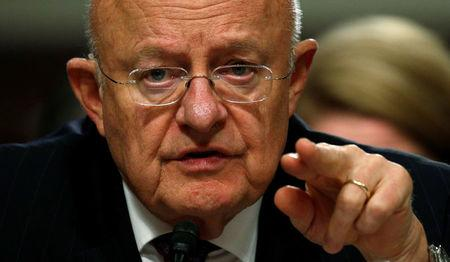 Director of National Intelligence James Clapper testifies before a Senate Armed Services Committee hearing on foreign cyber threats, on Capitol Hill in Washington, U.S., January 5, 2017. REUTERS/Kevin Lamarque