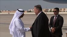 Pompeo lands in Abu Dhabi to discuss attack on Saudi oil facility