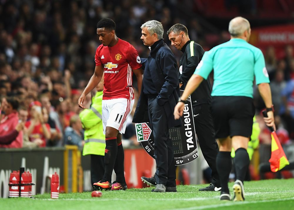 Jose Mourinho has said he wants Anthony Martial to adapt to his ways- but that now looks unlikely