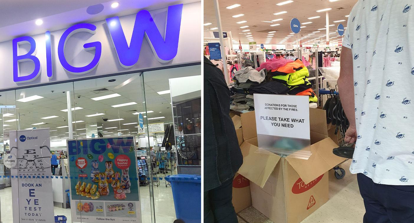 'Take what you need': Big W store's incredible gesture for bushfire victims