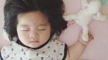 Garotinha de 6 meses tem cabelo de dar inveja em muitos adultos