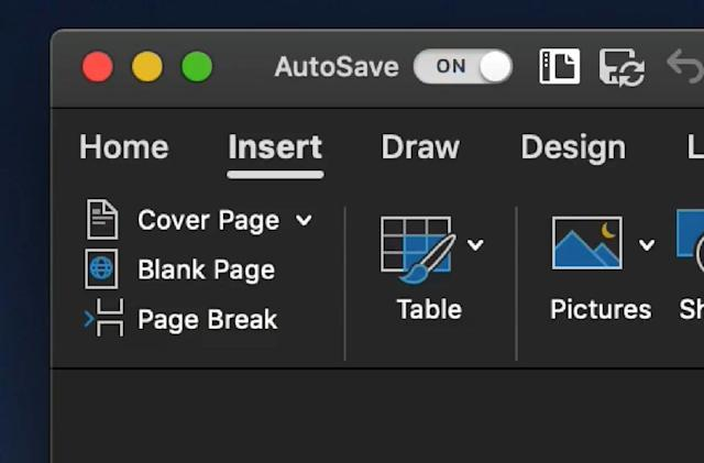 Office 365 for Mac now supports Dark Mode